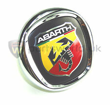 Fiat Abarth Push Button Boot Tailgate Badge, Punto Evo & New Bravo 735521565 NEW