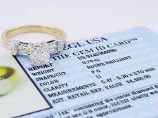 0.95 ct 14K Two Tone Gold Round Cut Diamond Engagement Ring EGL-USA Rtl $4,460