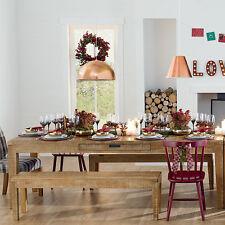 Esstisch mit Schubläden Tisch 180x90 LUXUS Hartholz Eukalyptus Designerstück