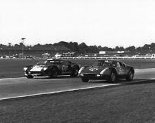 Vintage 8 X 10 1965 Daytona 24 Hours Winner Ford GT40 & Porsche 904