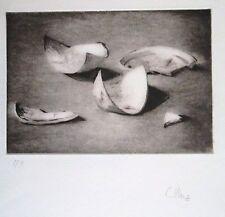 Claire Illouz gravure cinq tessons signée manuscrit P 887