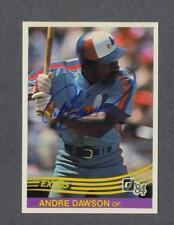 Andre Dawson signed Montreal Expos 1984 Donruss baseball card