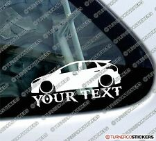 Custom, your text 'Ford Focus ST mk3 ,3rd gen' car outline stickers, decals