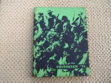 1974 TRITON REGIONAL HIGH SCHOOL YEARBOOK RUNNEMEDE NJ NEW JERSEY THE TRITONIAN