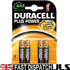 100 x DURACELL Plus AAA MN2400 LR03 Batteries 25 PACKS 4
