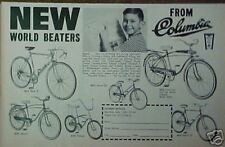 1964 Columbia Bicycles Playboy~Sports Bike Trade Ad