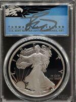 2019 S $1 Proof Silver Eagle PCGS PR70DCAM FDOI Thomas Cleveland Native~POP 81!~