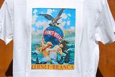 graphic retro art vintage Cotton Mens T Shirt , S,M,L,XL , FERNET - BRANCA
