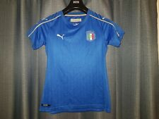 Italy Blue Home Football Shirt Puma Womens Soccer Jersey Ladies Size 12 Top 2016