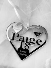 18TH 16TH  BIRTHDAY GIFT PERSONALISED WITH NAME ,PAIGE , BIRTH DATE, KEEPSAKE