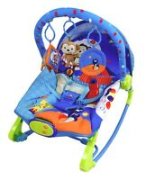 Baby Rocker Bouncer Reclining Chair Music Vibration Toys - High quality- 30%off