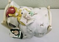 Disney Winnie the Pooh & Piglet Ceramic Bed Night Light Figurine Charpente