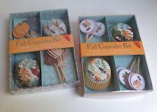 Lot of 2, Fall Cupcake Kits Autumn Thanksgiving Leaves, Meri