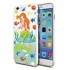 Cute Mermaid Fishes Design Hard Back Case Cover Skin For Various Phones