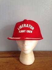 Liberator Flight Crew Mesh Snap Back Trucker Hat Bomber Air Craft B Vintage