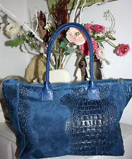 Kurt kölln acc. Bag 100% de cuero bolso bolso Croco Bag dark blue nuevo