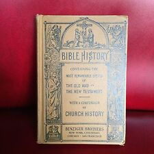 Vintage BIBLE HISTORY, OLD & NEW TESTAMENT Church History BENZIGER BROTHERS 1936