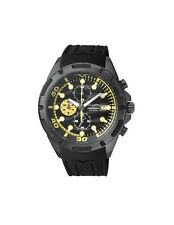 Cronografo Vagary by Citizen Orologio Chrono Uomo acciaio gomma Black Ia9-946-50