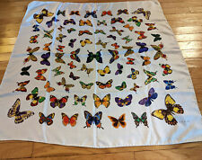 Echo 100% Silk Butterfly Print Large Scarf Vintage Made In Italy Colorful