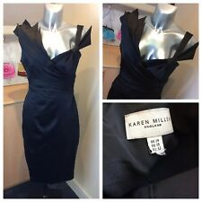 Karen Millen Black Fitted Pencil Occassion Dress. Size 14UK. Ex Condition