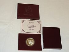 United States Proof 90% Silver commemorative half Dollar 1732-1982 Washington