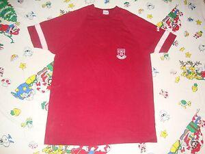 Vintage 70's Harvard Crimson Champion Blue Bar Tag NCAA RARE T shirt Adult M