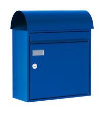 Max Knobloch Design-Briefkasten ATLANTA blau RAL 5002, Ultramarinblau 17 Liter