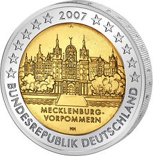 Germany 2 € EURO Commemorative Coin 2007 UNC Mecklenburg Vorpommern Mintmark D