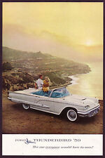 1959 Vintage Ford Thunderbird Convertible Car 1.5-pg Photo vintage print ad