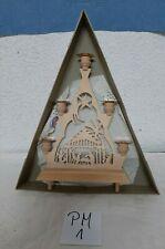 Pyramide Motiv Weihnachtskrippe mit OVP Laubsägearbeit -Erzgebirge(KA1)