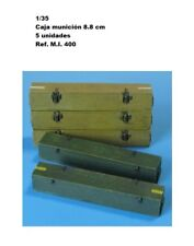 WWII GERMAN WOODEN AMMO BOXES 8.8 CM KW RESINA 1/35 accessories for diorama