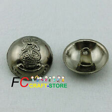 20 X Lion Crown 20mm Alloy Metal Buttons Sewing Collectable Craft Cardmaking