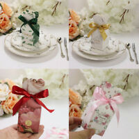 10Pcs Favor Candy Boxes Thank You Bow Gift for Wedding Bridal Shower Party