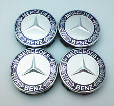4x For Mercedes-Legierung Rad-Mitte-Naben-Kappen 75MM fits A B C E S ML CLASS