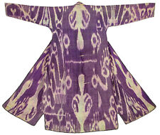 Antique Uzbek Ikat Femmes Manteau Afghan antique Women's Silk Coat chyrpy no:18/30