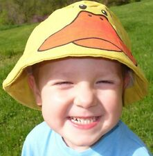 NEW Novelty Animal Bucket Sun Hat Duck Boy Girl Ducky Sunhat Cap Yellow Bird