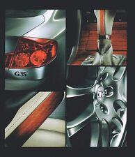 2005 Infiniti G Brochure / Catalog with Color Chart: G35,G-35x,6MT,Sport,Premium
