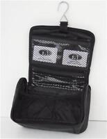 Hanging Toiletry Bag for Men, Leather Shave Kit Travel Black NEW