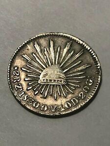 1830-Zs OV Mexico 2 Reales Silver VF+ #17265
