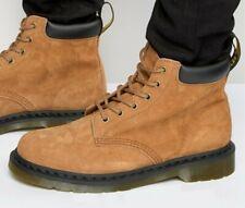 RARE Dr Martens 939 Tan Soft Buck Suede Boots, 6 Eyelet, Size UK 10 EUR 45 BNIB