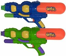 """2 x LARGE 16"""" Pump Action Water Guns 40cm Pistols Cannon Fight Soaker Toys 797"""
