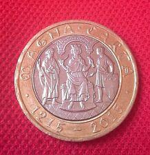 2015 Moneda £ 2 dos libras Carta Magna declaración 800TH Aniversario Muy Raro £ 2 Zz