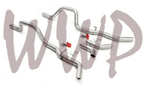 """Dual 2.5"""" Prebent Exhaust Tail Pipe Kit 59-64 Chevrolet Impala/Bel Air/Biscayne"""