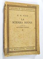 La Scienza Nuova - Antonio Banfi - G.B. Vico - Mondadori 1943