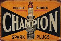 """Retro Blechschild """"Champion sparks"""" Auto KFZ Werkstatt Garage Tankstelle 20x30cm"""