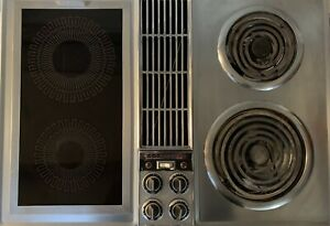 """Vintage Jenn-Air C201 Stainless Steel Downdraft 30"""" Cooktop Electric Free Ship"""