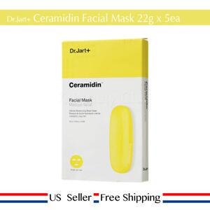 Dr. Jart+ Ceramidin Facial Mask 22g x 5ea High Moisture + Free Sample US Seller