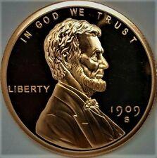 1909 S Vdb Lincoln Wheat Cent Copper Coin 1oz .999 Bullion Round - Bu. Proof