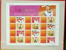 HONG KONG 2012 LONDON 2012 OLYMPICS SHEET MNH