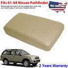 Fits 2001-2004 Nissan Pathfinder Leather Console Lid Armrest Cover Beige Tan
